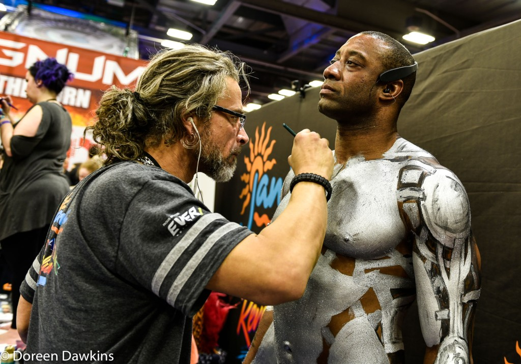 "Arnold Sports Festival USA 2019: Body Paint Competition Artist Patrick Todd Reed, Model Terry ""Tree"" Gordon"