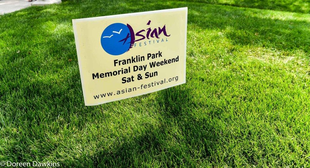 Asian Festival sign, Asian Festival