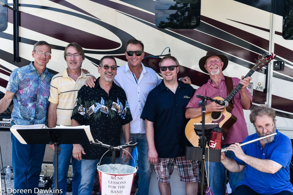 Jack Minor with Hendog & Stadz Band at the Jax Wax Car Show 2018