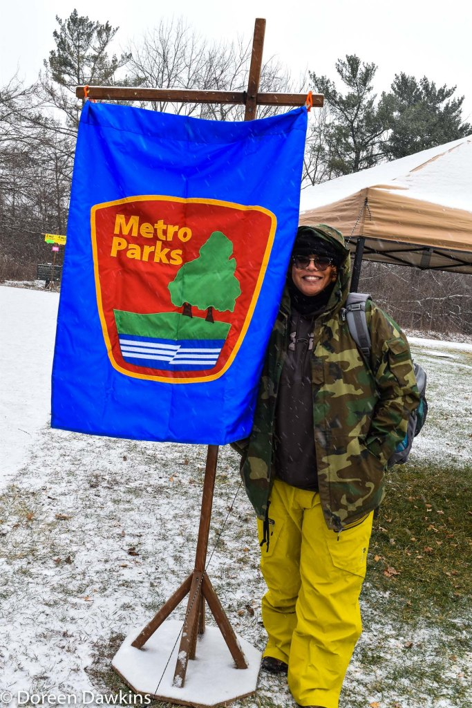 "Doreen Dawkins ""ready for the walk"", Sharon Woods Metro Park Winter Hike"