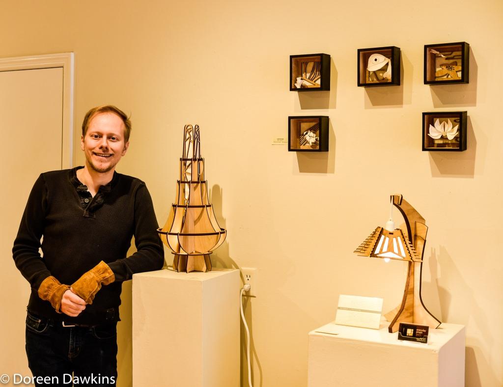 Ben Sostrom artist at Short North Gallery Hop