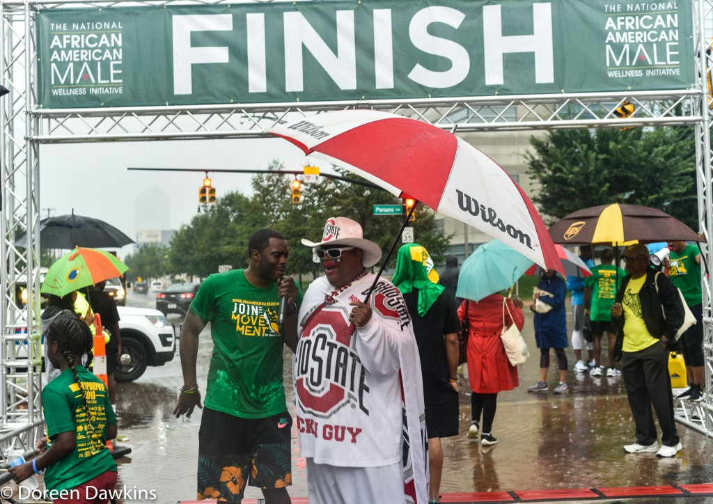 The Finish… at the African American Male Wellness Walk 2018