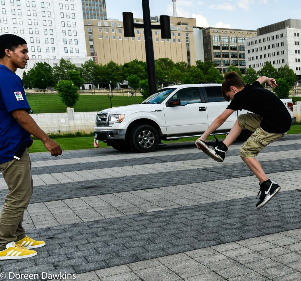 Dance-off at the Columbus Taco Fest