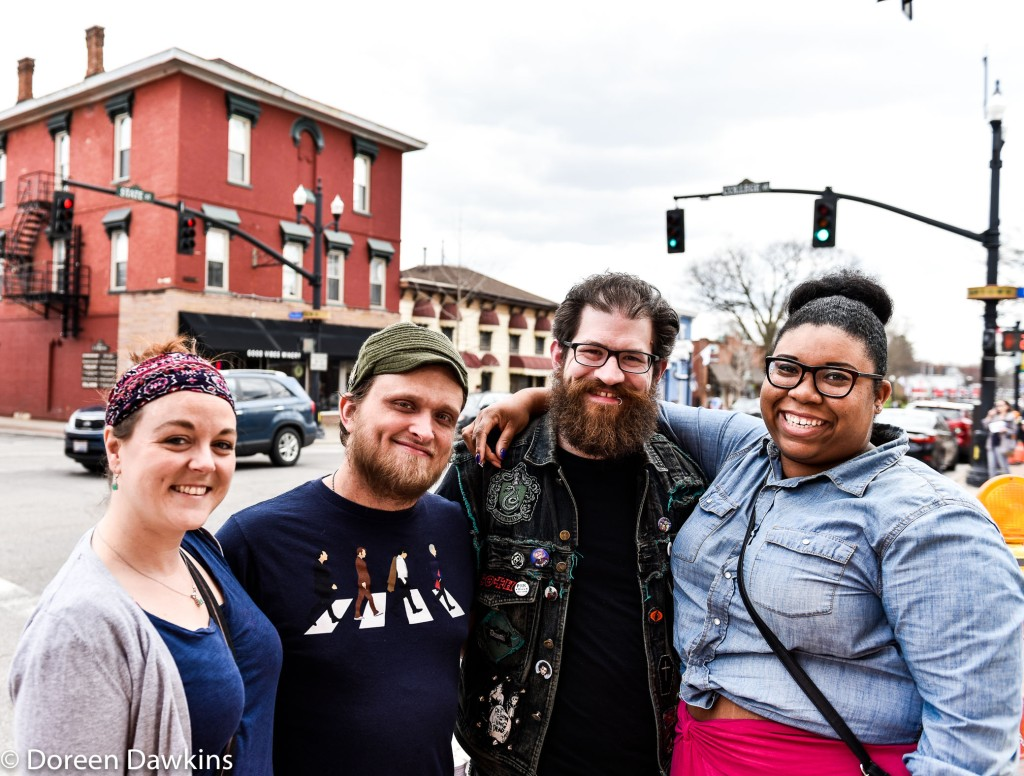 Helen Brauchi, Rob Cordray, Kyle Dapo and Tiarra Marshall, Westerville Art Hop