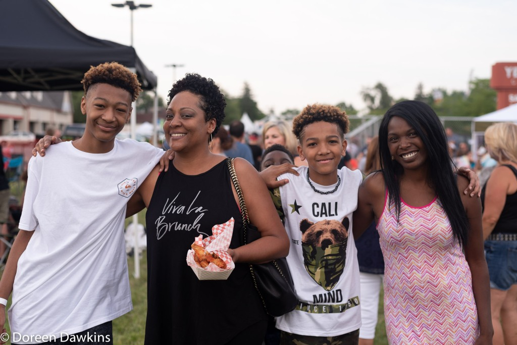 All smiles… at Whitehall food truck festival 2018