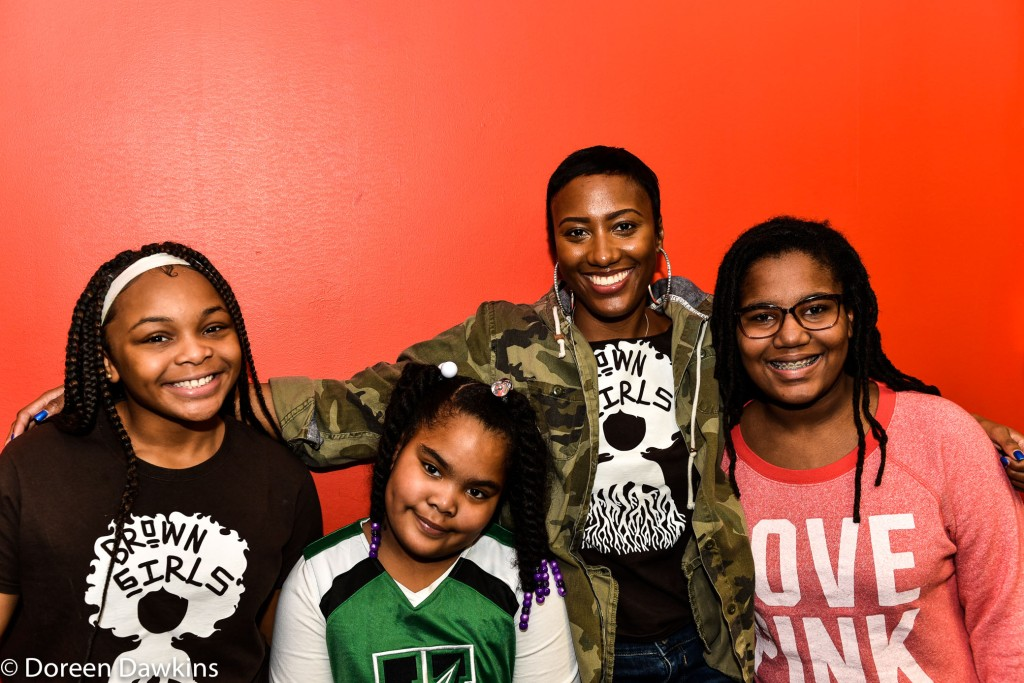 "Tremica Odom, AKA ""Ms. Trey"" and a few brown girls, A Mentor Brown Girls Mentoring"