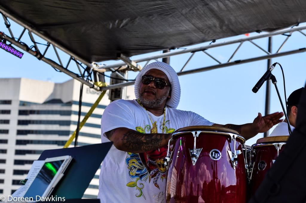Tino Casanova leader of Al Son Del Iya (@alsondeliyasalsa), Columbus Taco Fest