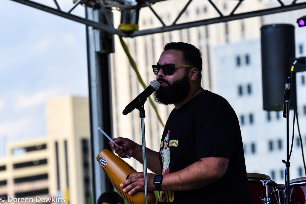 Darryll Rosa lead singer of Al Son Del Iya (@alsondeliyasalsa), Columbus Taco Fest