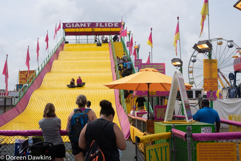 The giant slide at the Ohio State Fair