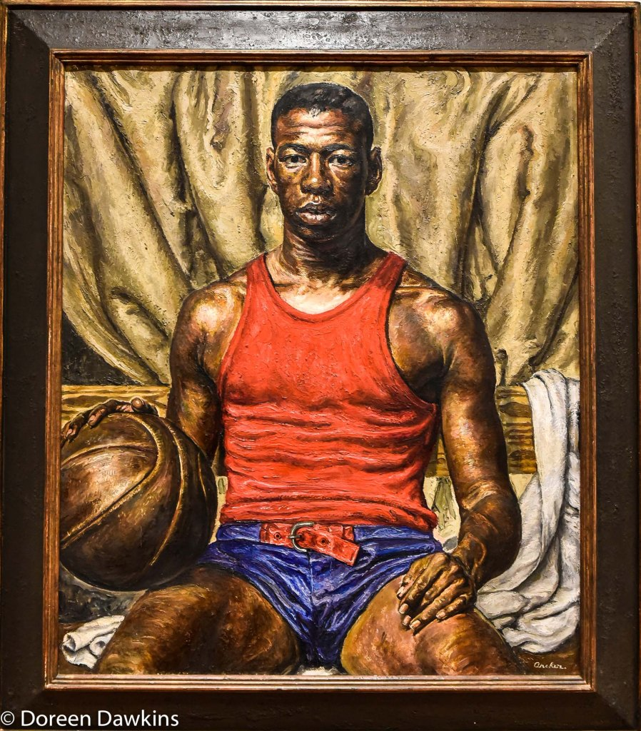 "Howard Patterson of the ""Harlem Yankees"" painted in 1940 by Edmund Archer: I, Too Sing America: the Harlem Renaissance at 100"