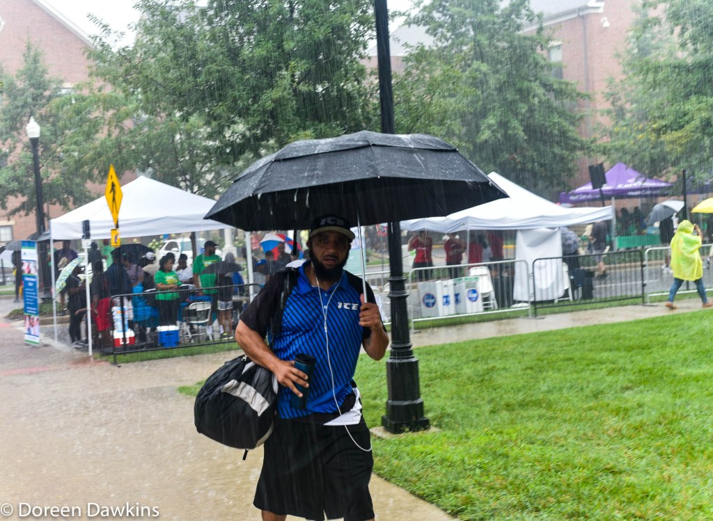 Walking in the rain… at the African American Male Wellness Walk 2018
