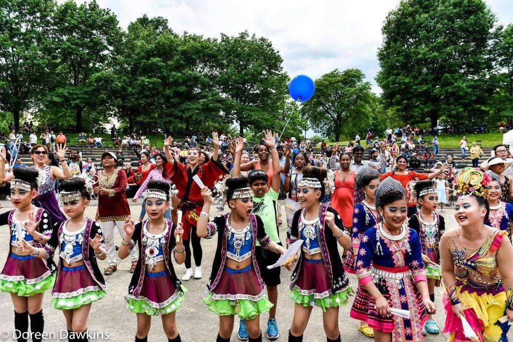 Audience enjoying Nachdapunjab, Asian Festival