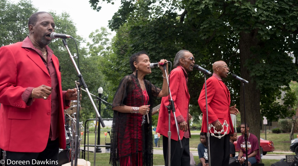 The Four Mints performing at  the Cultural Wall Music Festival
