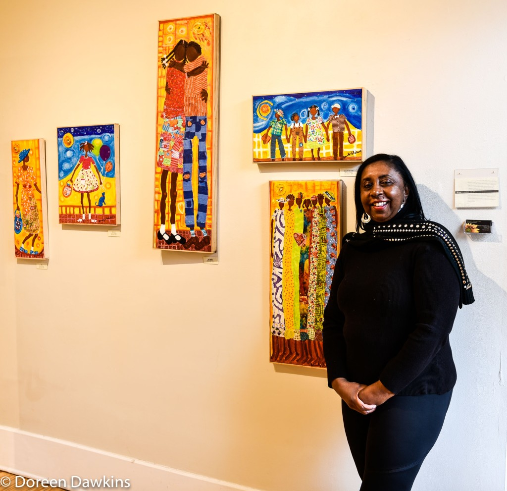 Beverly Whiteside artist at Short North Gallery Hop