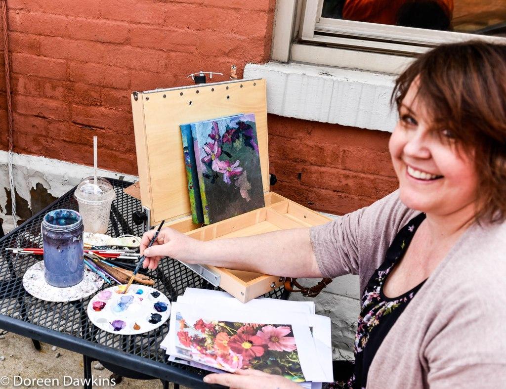 Artist Alexandra Zecevic, Westerville Art Hop