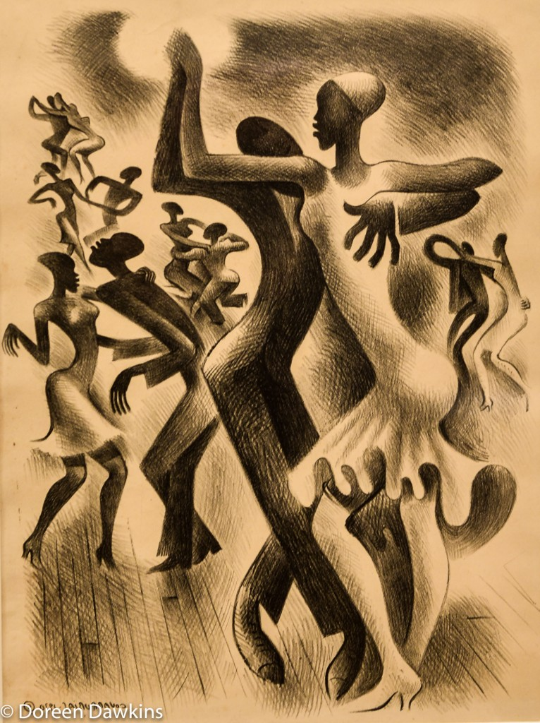Lindy Hop completed 1930 by Miguel Covarrubias.: I, Too Sing America: the Harlem Renaissance at 100