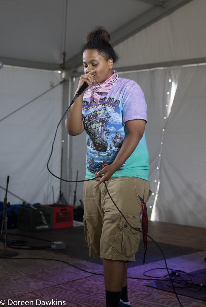 Bree the Rapper performing at Comfest.