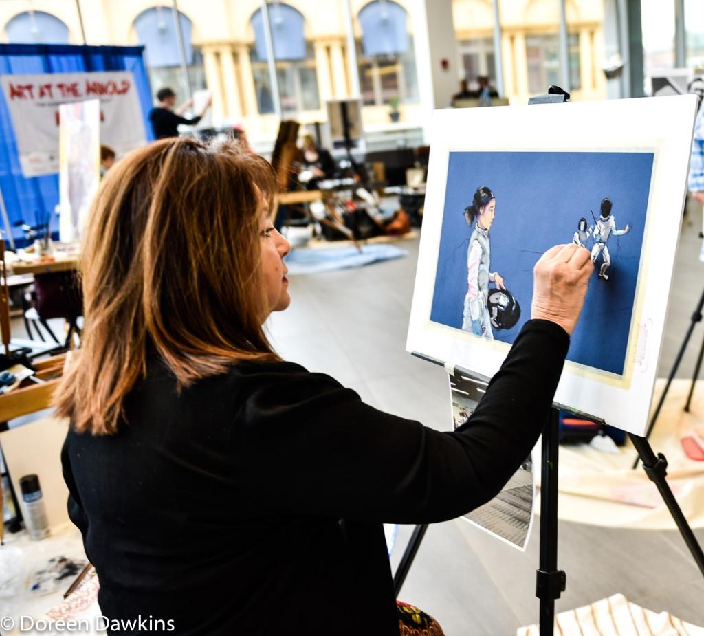 Kim Ceccarelli, IG @kimceccarelli_art, Arnold Sports Festival USA 2019: Art Competition