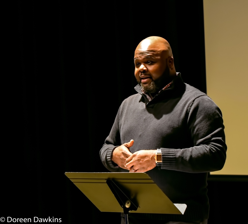 "Terrance Brooks is the Director of Student Engagement, Leadership, and Inclusion, Assotto Saint's, ""Heart and Soul"", Poets in Black featuring Dr. Crystal Robinson Clark"