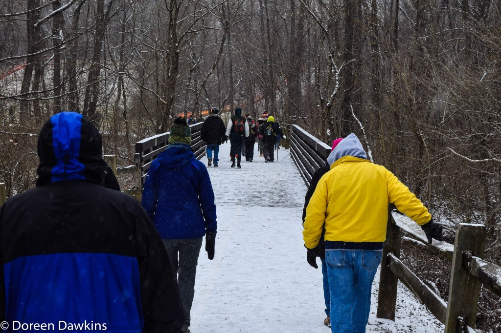 Less than a mile completed!, Sharon Woods Metro Park Winter Hike