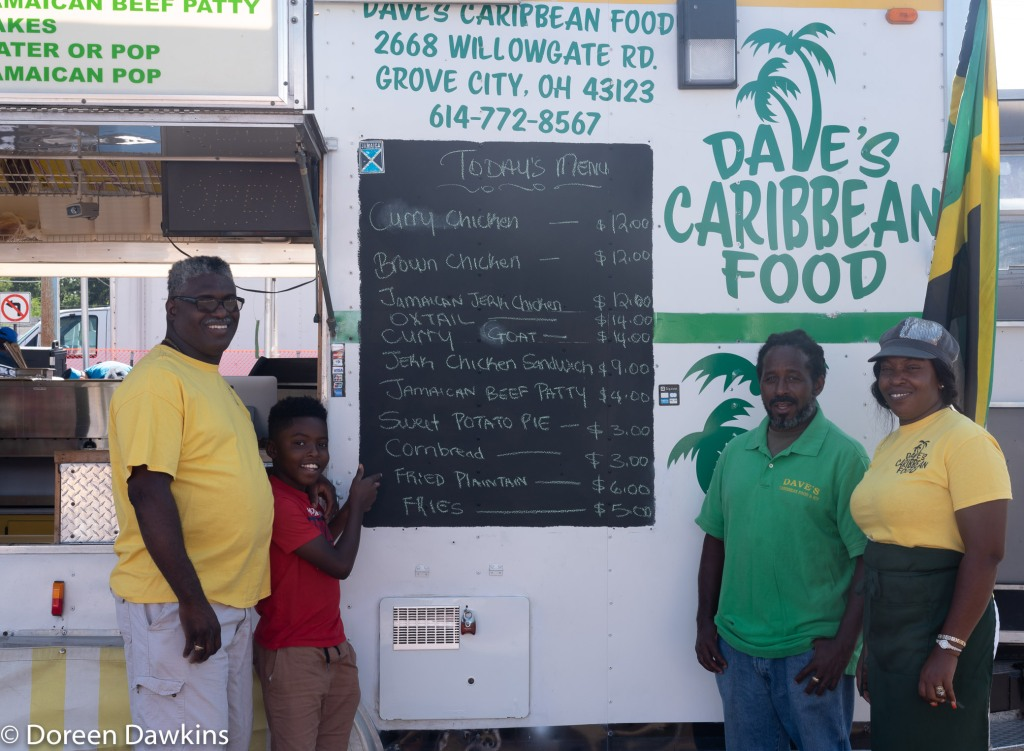 The crew… Dave's Caribbean Food at the Whitehall food truck festival 2018