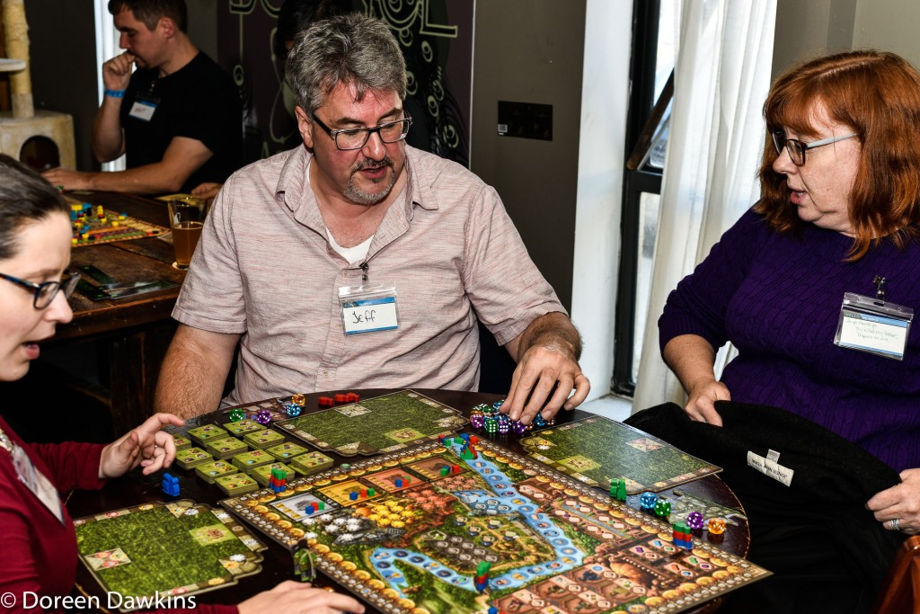 Jeff Kayati playing Rasha of the Ganges at the 24 Hour Board Game Marathon for Nationwide Children's Hospital 2018
