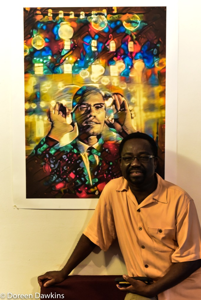 "Hakim Raquib ""Malcolm X"", African Village Arts Festival 2018"
