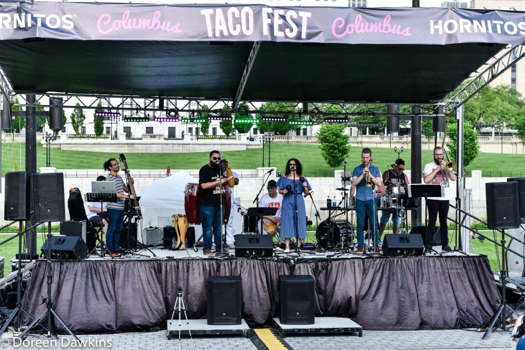 Al Son Del Iya (@alsondeliyasalsa) performing at the Columbus Taco Fest