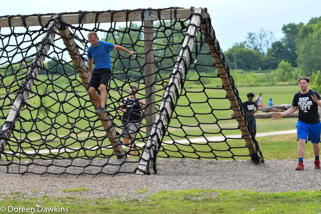 Cargo Climb at the Scioto Audubon Metro Park Obstacle Course