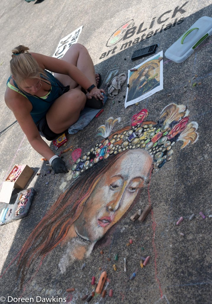 Pavement artist Lousia Heyer at Summer Jam West 2018