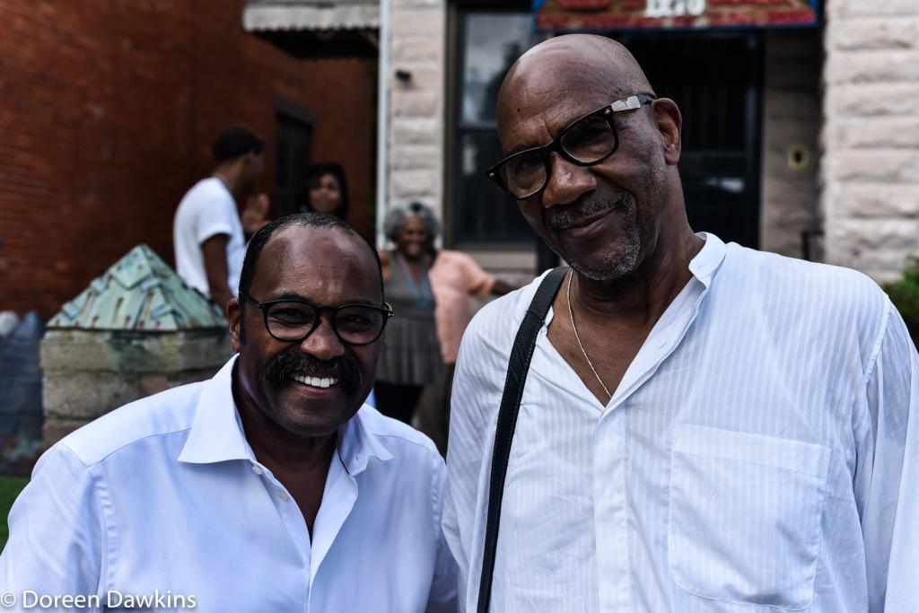 Hearcel F. Craig (Representative of the 26th district of the Ohio House of Representatives) and Hakim Raquib, African Village Arts Festival 2018