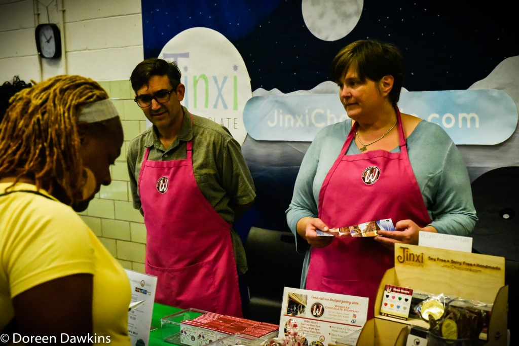 Jamie Inks, Jinxi Chocolate and Wooster Chocolate Company at Columbus VegFest 2018