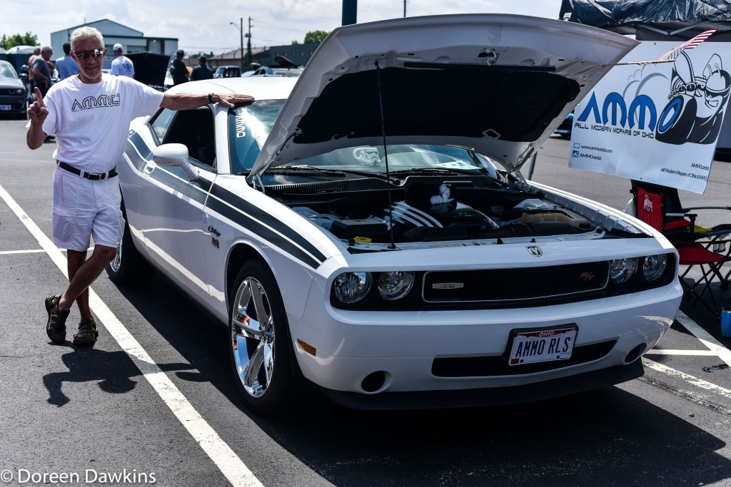 Benjamin Wilcox, White 2010 Challenger RT at the Jax Wax Car Show 2018