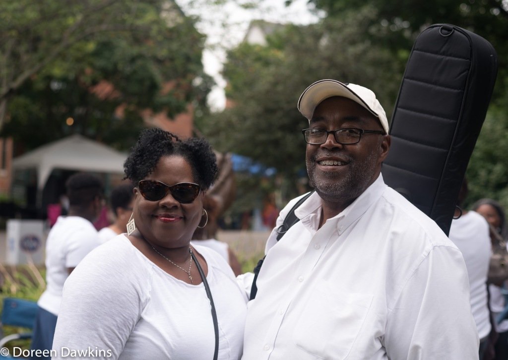 Dr. Merlyn Ruffin and Dr. Milton Ruffin at the Cultural Wall Music Festival 2018
