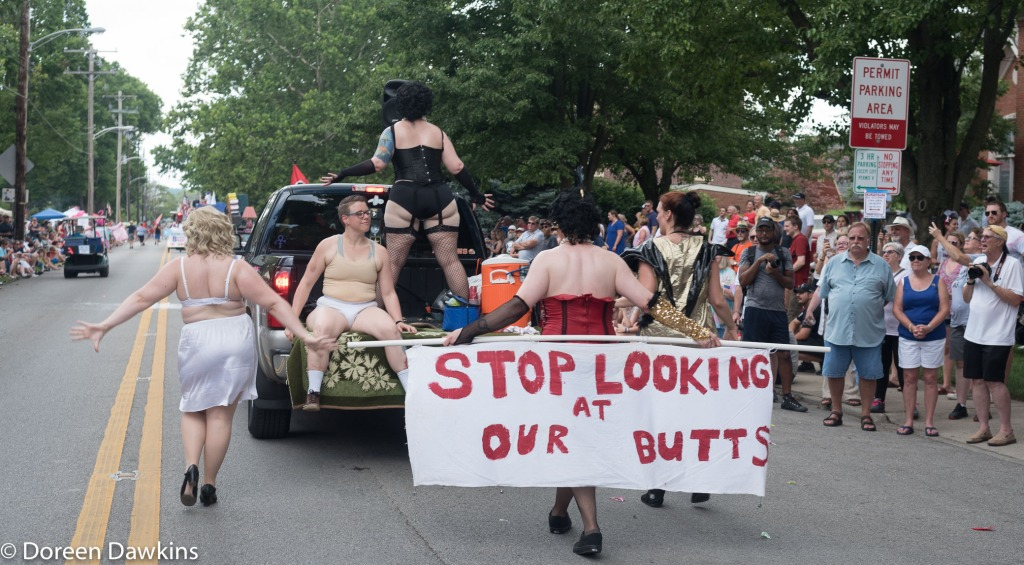 Stop Looking at our Butts, Doo Dah Parade 2018