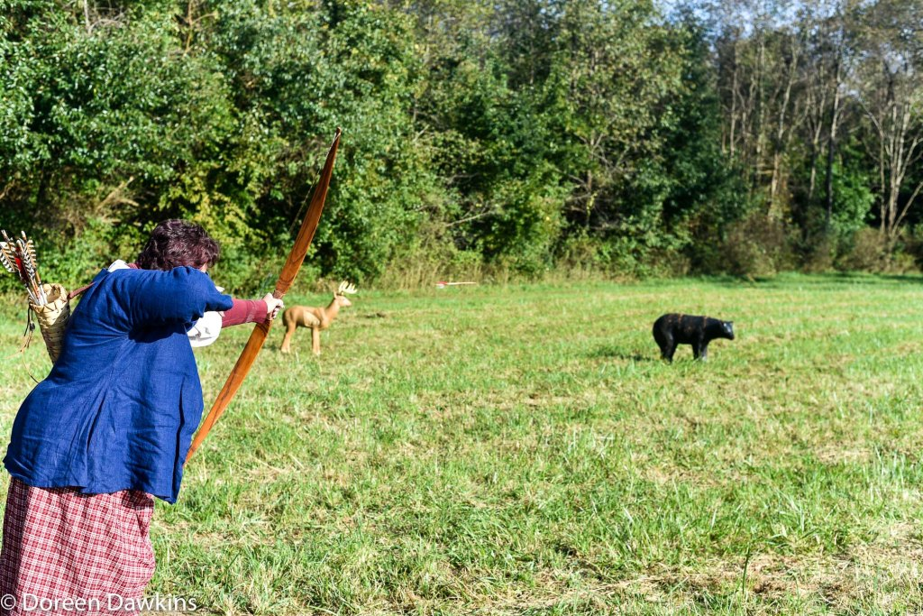 Archery contest at the Harvest Moon Rendezvous 2018