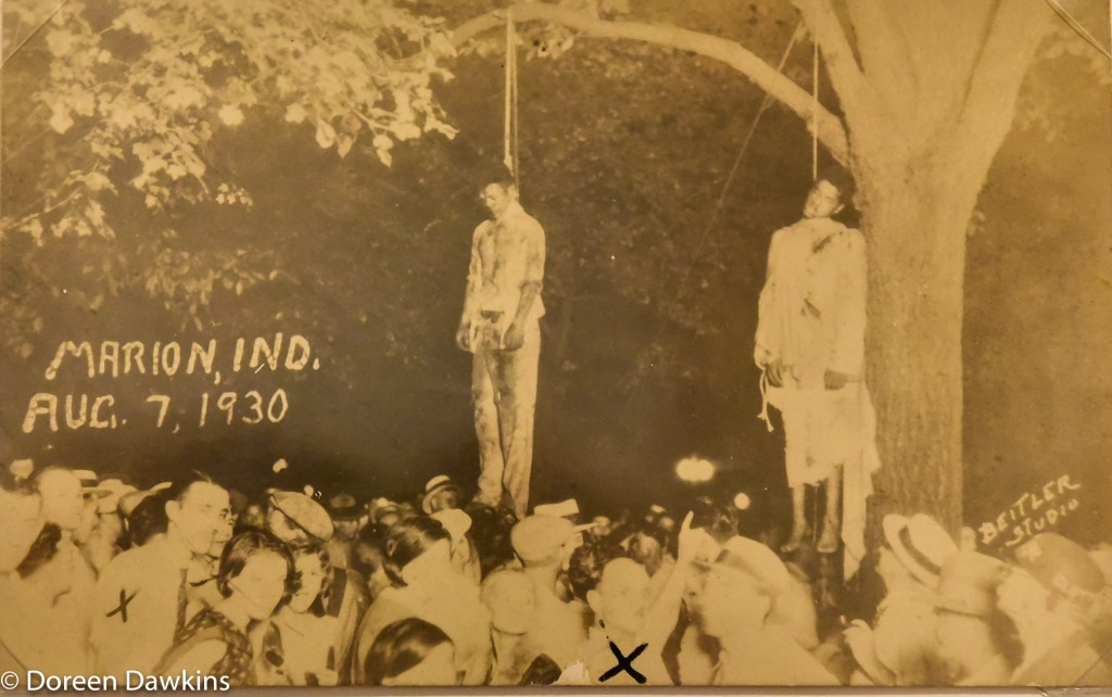 Thomas Shipp and Abram Smith being hung in Marion, Indiana on August 7, 1930: I, Too Sing America: the Harlem Renaissance at 100