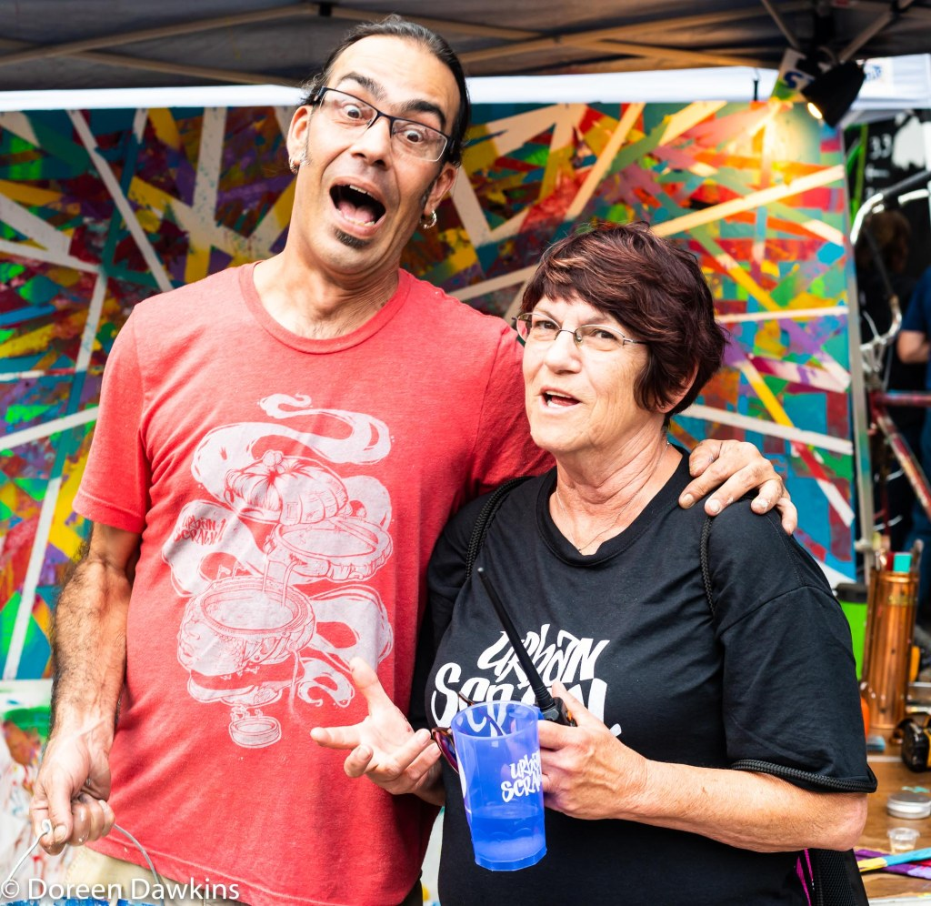 Simon La Bozetta  and Brenda St. Clair, Urban Scrawl 2018