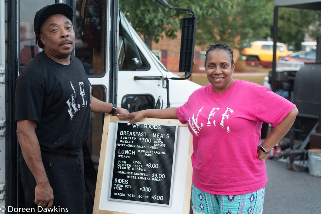 Derrick and Sabrina Wilford, WF Foods at the Whitehall food truck festival 2018