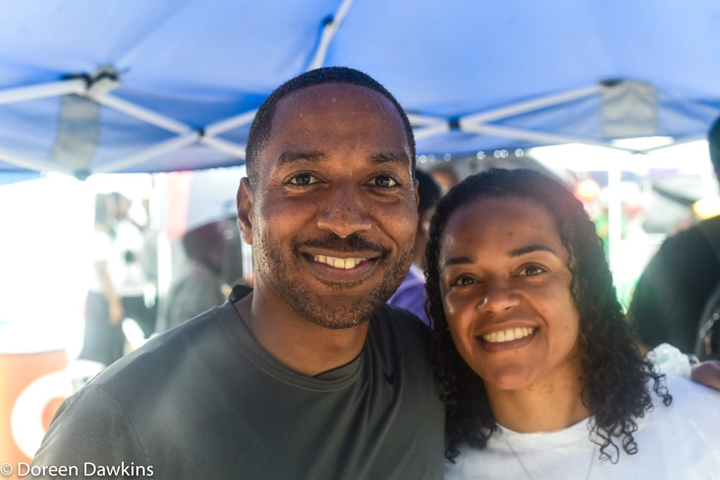 Kevin Boyce and Jaiza Page at the African American Male Wellness Walk 2018