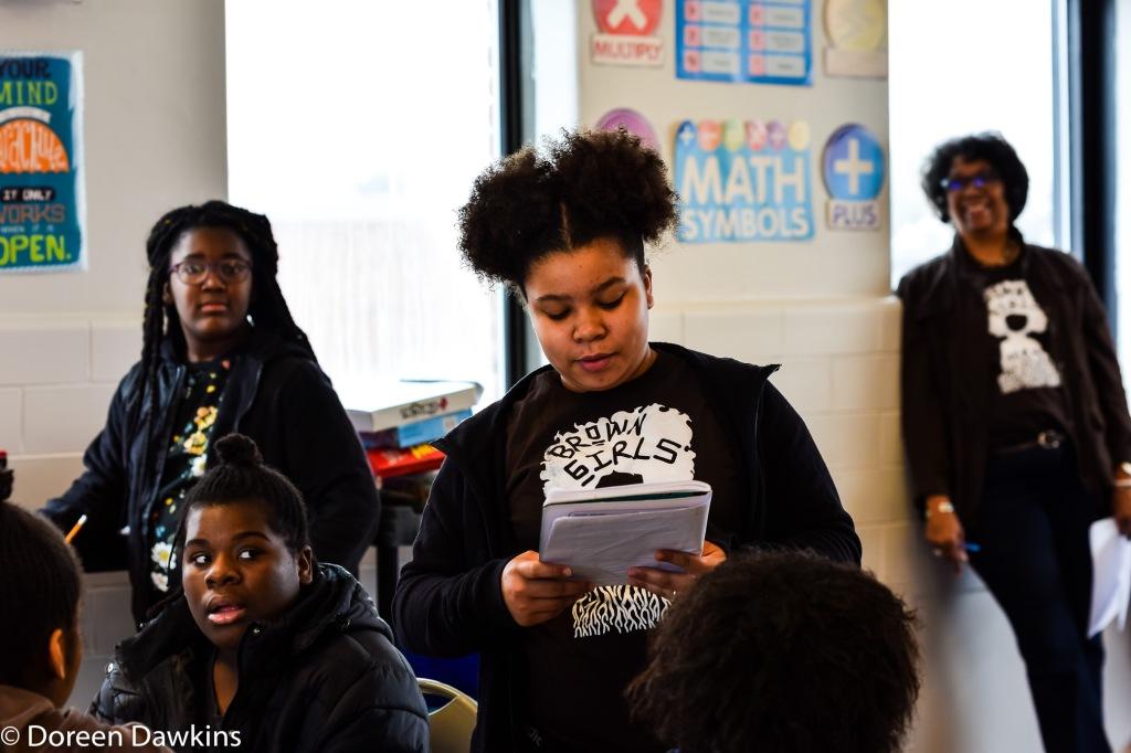 Sharing writing prompt, Brown Girls Mentoring