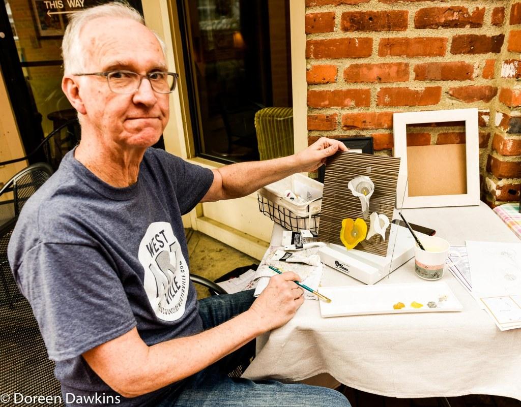 Artist Don Wilkins, Westerville Art Hop