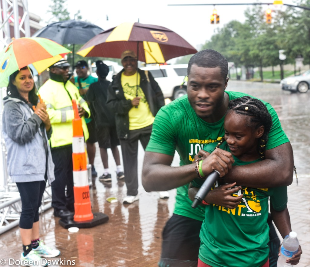 The rain didn't stop the entertainment… at the African American Male Wellness Walk 2018