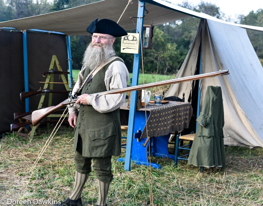 Randy Wolf and his rifles at the Harvest Moon Rendezvous 2018