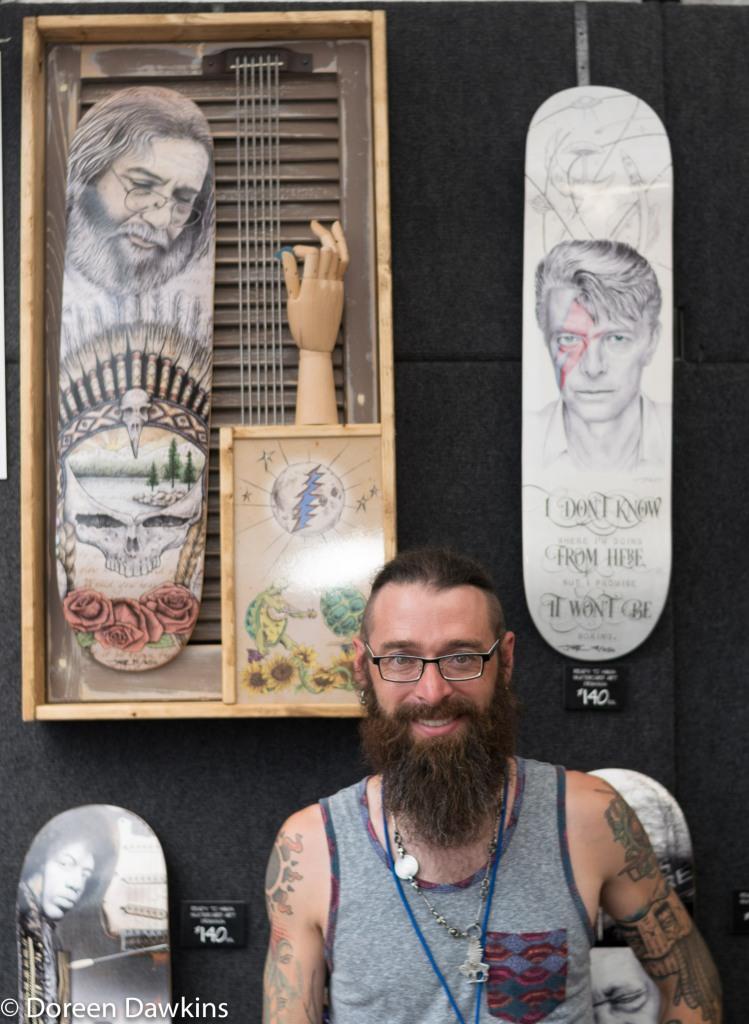 Jeffrey St. Romain (Skateboard Art), Columbus Arts Festival 2018