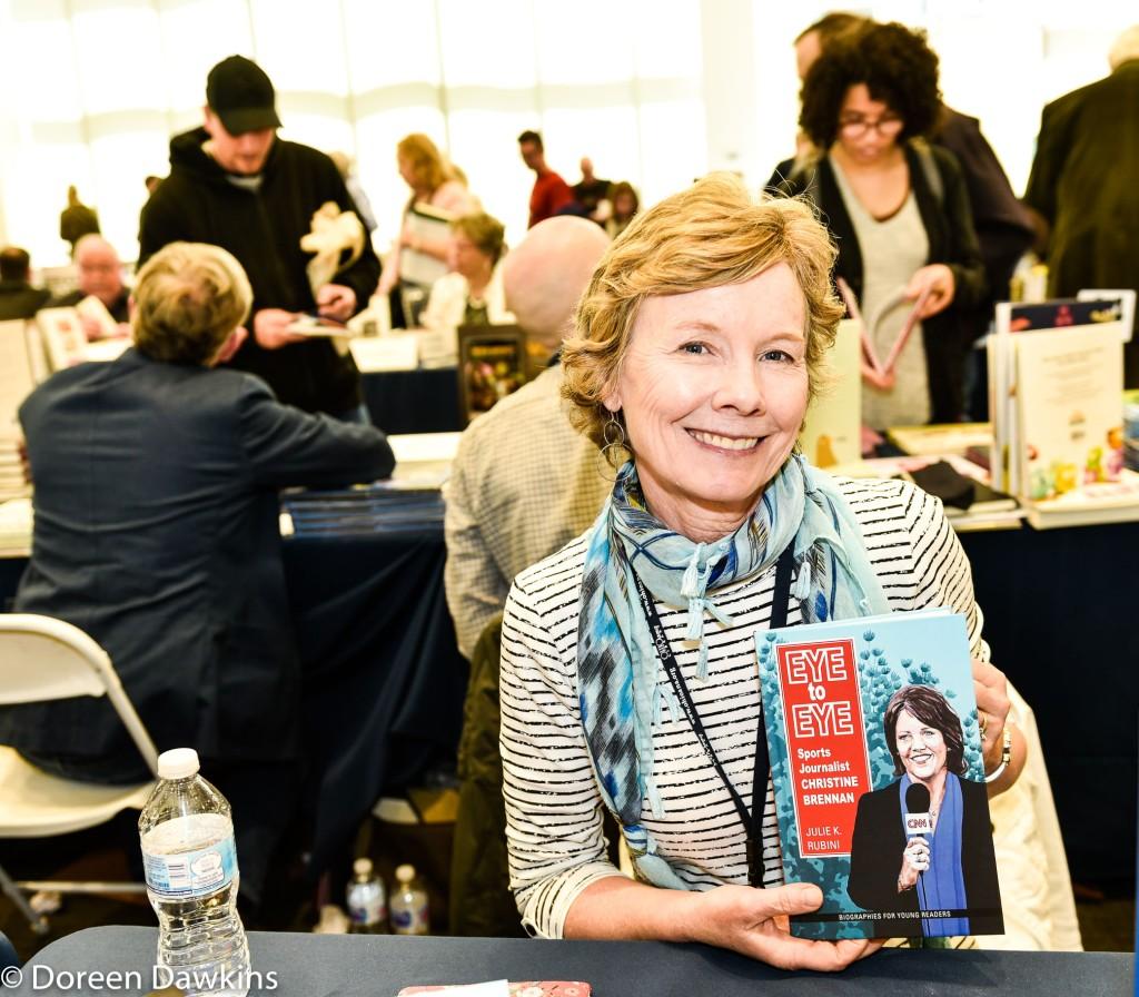 Julie K. Rubini author of Eye to Eye: Sports Journalist Christine Brennan, Instagram: @juliekrubini, Ohioana Book Festival