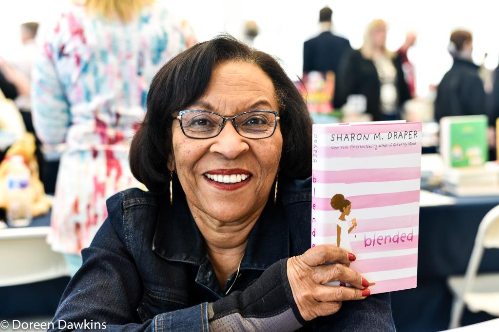 Sharon M. Draper author of Blended, Instagram: @sharonmdraper, Ohioana Book Festival