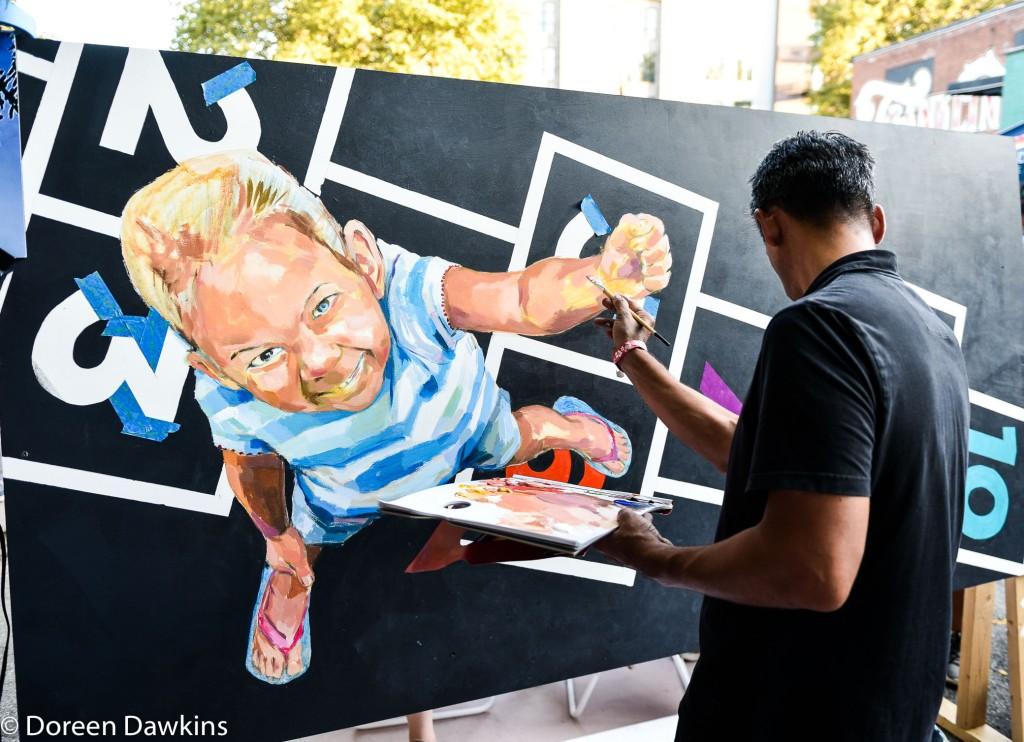 Artist Jeremy Rosario, Urban Scrawl 2019