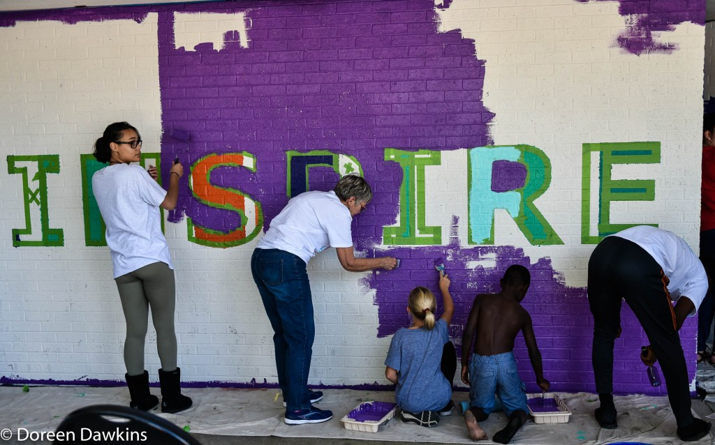 Community Mural, Harmony Project at Sullivant Gardens Community Center
