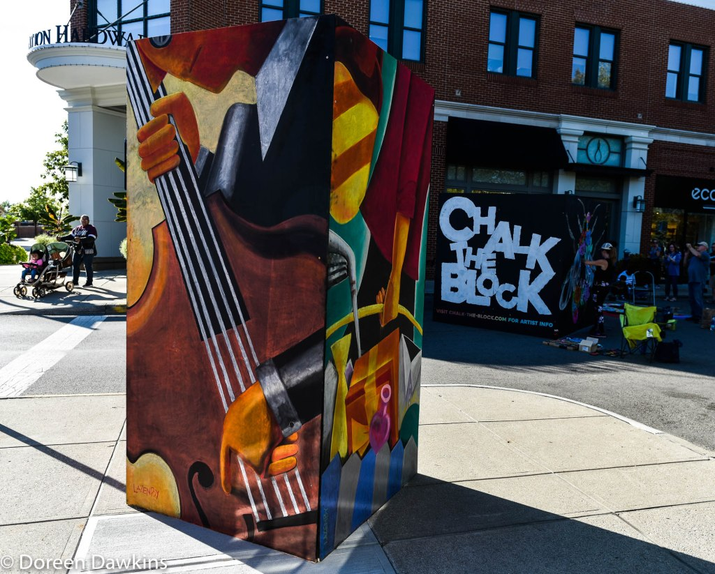 "Artist Sheryl Lazenby, ""Easton 20 year anniversary box"", Chalk the Block 2019"